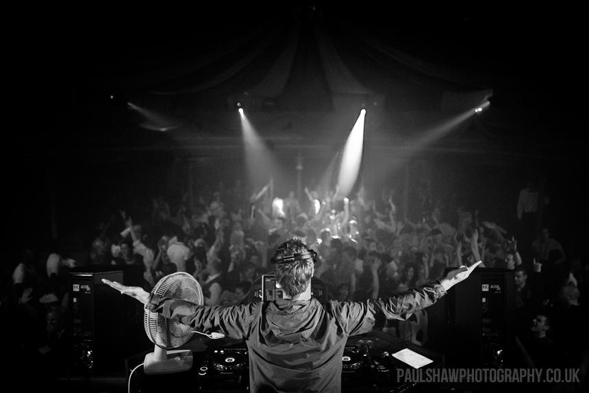 DJ Karl West at work in the Chapel Nightclub in Salisbury.