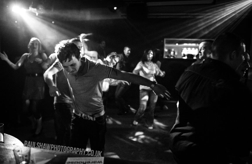 A clubber shows his moves on the dance floor in the Warehouse Nightclub in Salisbury.