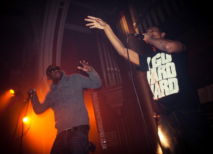Skepta Perform on stage in the Chapel Nightclub in Salisbury.