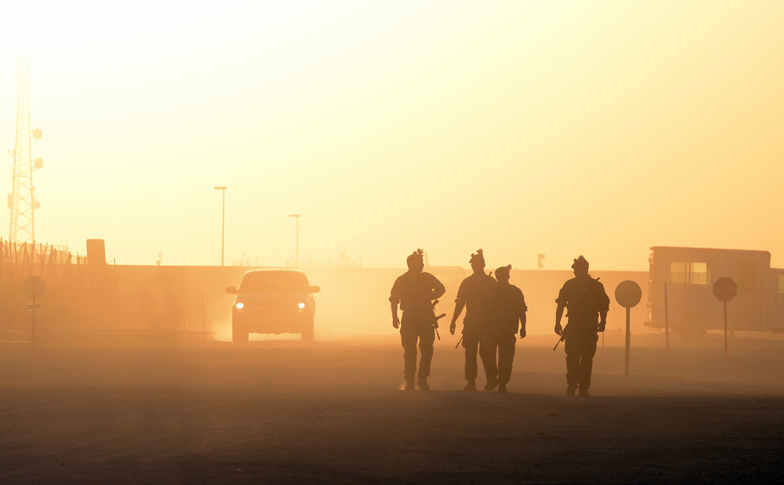 Troops at Sunset